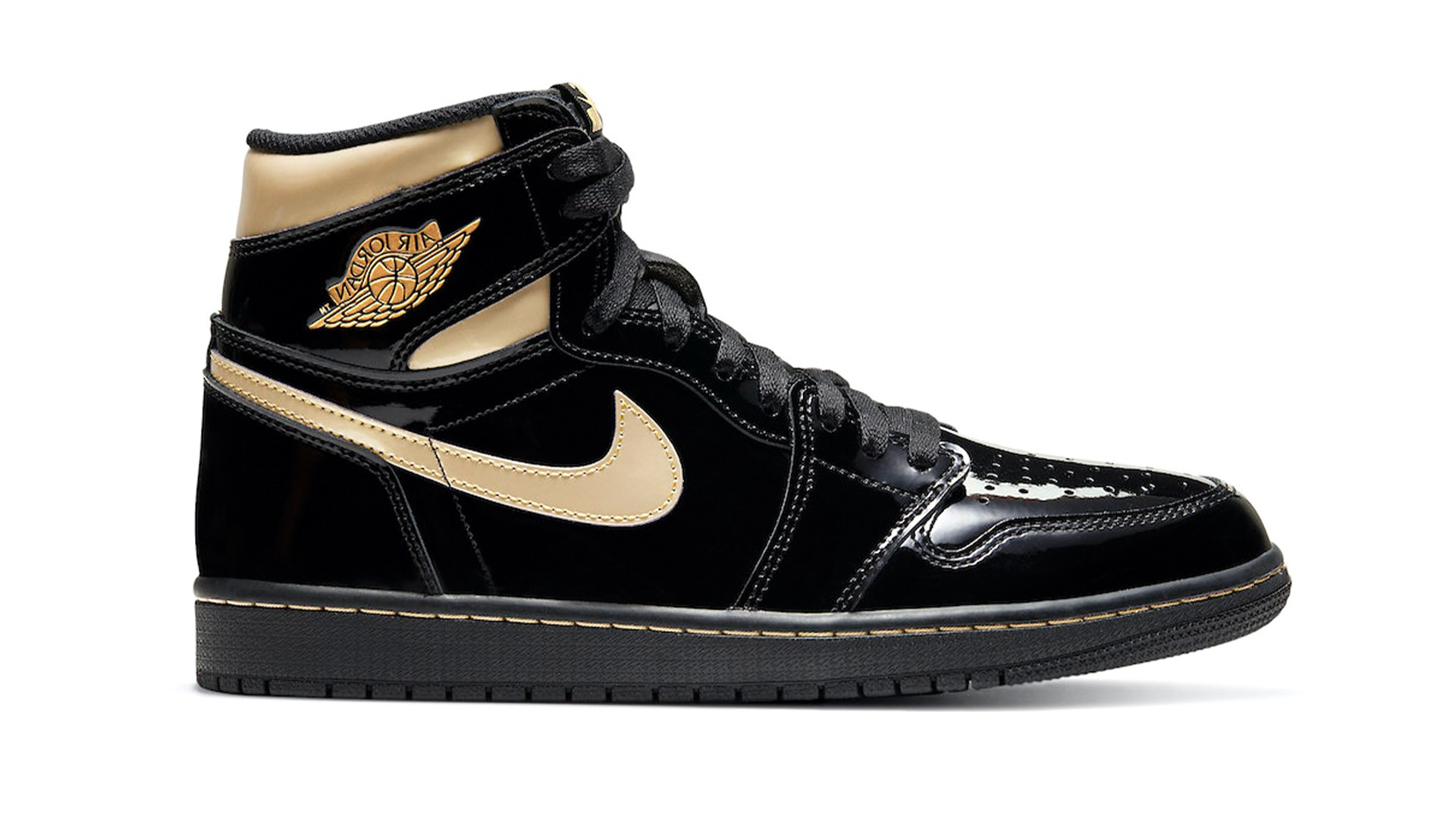 "AIR JORDAN 1 RETRO HIGH OG ""BLACK METALLIC GOLD"""